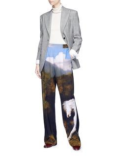 Stella McCartney 'Stubbs Cicely' horse print wide leg crepe pants