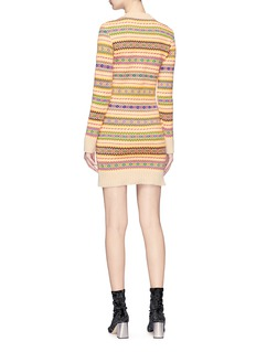 Stella McCartney 'Fair Isle' mosaic stripe knit dress