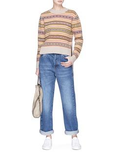 STELLA MCCARTNEY 几何提花前短后长羊毛针织衫