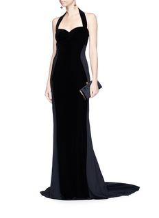 Stella McCartney Halterneck velvet crepe gown