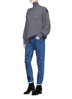 Stella McCartney Star velvet flock skinny jeans