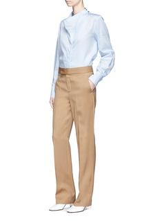 STELLA MCCARTNEY DAMIANE垂褶衣领府绸衬衫