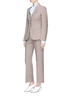 Stella McCartney Cropped houndstooth wool suiting pants