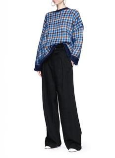 Stella McCartney Check oversized wool blend sweater