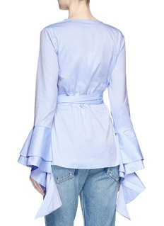 C/Meo Collective  'Still Standing' ruffle poplin wrap shirt