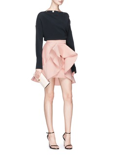 C/Meo Collective  'Extant' structured ruffle suiting skirt