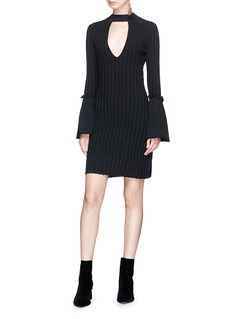 C/Meo Collective  'Mind Reader' trumpet sleeve bodycon knit dress