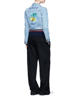 Etre Cecile  'Adieu Honolulu' embroidered cropped denim jacket