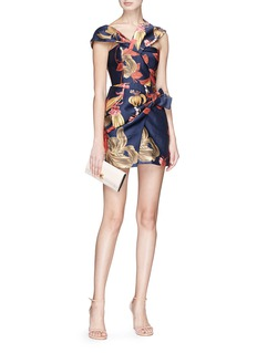 C/Meo Collective  'Need You' botanic print one shoulder dress