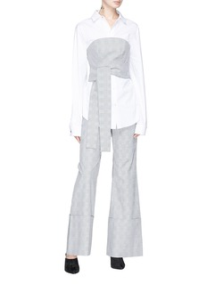 C/Meo Collective  'We Woke Up' check plaid flared suiting pants