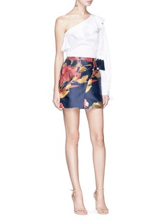 C/Meo Collective  'Need You' botanic print mock wrap skirt