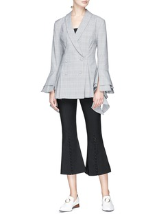 C/Meo Collective  'Presence' button cuff flared suiting pants