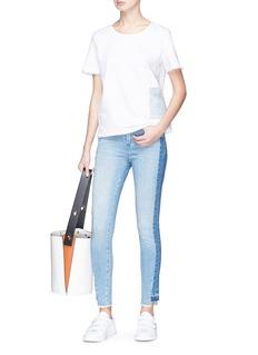 Denham 'Spray' colourblock active denim pants