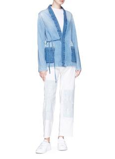 Denham Washed active denim kimono jacket