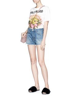GRLFRND 'Cindy' frayed denim shorts