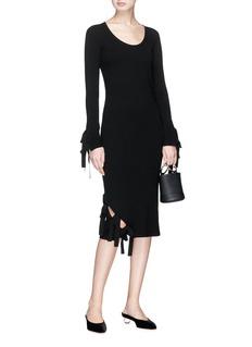 RHIÉ Vera系带设计不对称罗纹针织裙