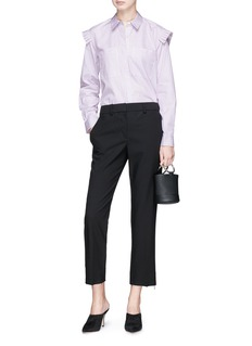 RHIÉ 'Lucia' pleated shoulder trim stripe shirt
