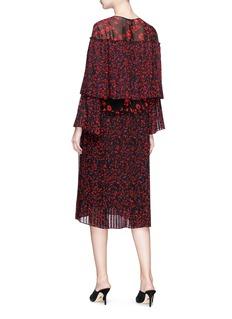 RHIÉ 'Marietta' floral print pleated georgette dress