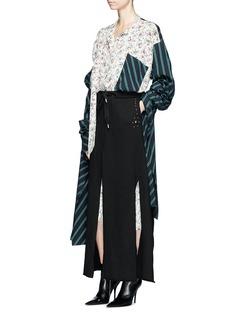 R.shemiste Stud slit skirt