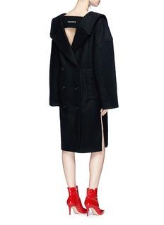R.shemiste Double breasted melton coat