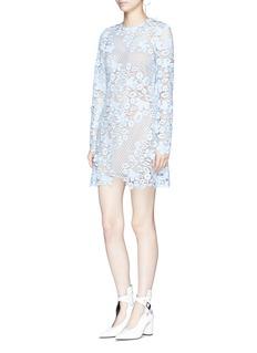 self-portrait 3D floral guipure lace mini dress