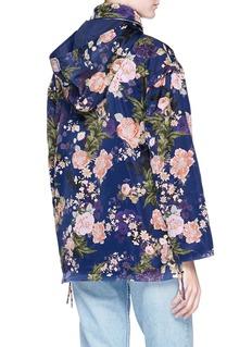LPA ''360' floral print waterproof twill hoodie