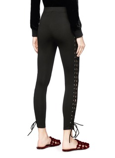 LPA Lace outseam ponte jersey cropped leggings