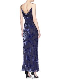 LPA Floral velvet burnout maxi dress