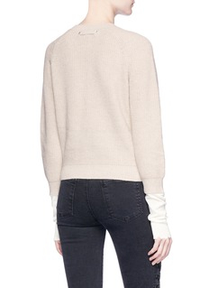 Helmut Lang Extended cuff rib knit sweater