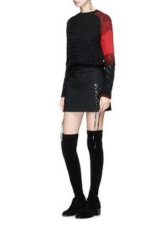 Helmut Lang 'Punk Patchwork' sweater