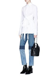 Helmut Lang Tie front poplin shirt
