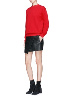 Helmut Lang Split collar distressed sweatshirt