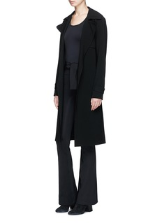 Helmut Lang Tie waist technical jersey flared leggings