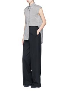 Helmut Lang Stripe Oxford sleeveless shirt