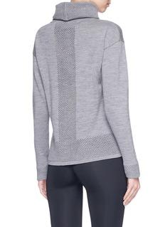 Calvin Klein Performance 'Cowl' textured panel turtleneck wool sweater