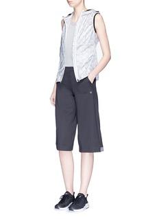 Calvin Klein Performance Illusion print mesh back sleeveless windbreaker jacket
