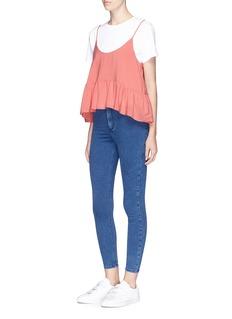 Ivy Park 'MOTO' high waist cropped skinny Joni denim pants
