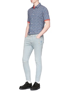 Topman Distressed skinny fit jeans