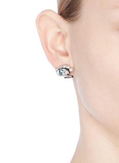 Anton Heunis'Phoebe' Swarovski crystal and pearl eye earrings