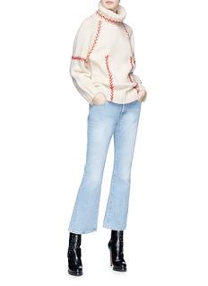 Alexander McQueen Embroidered cashmere turtleneck sweater