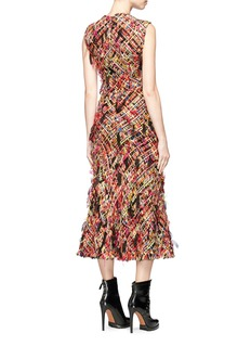Alexander McQueen 'Wishing Tree' fringed tweed dress