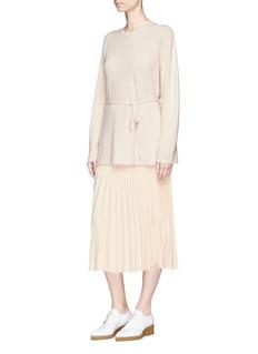 Elizabeth and James 'Yolanda' sunburst pleated midi skirt
