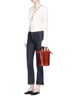 Trademark ''Garden' leather bucket bag