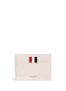 Thom Browne Stripe pebble grain leather cardholder