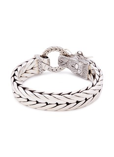 John Hardy Silver naga weave effect link chain bracelet