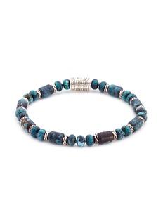 John Hardy Turquoise bead silver bracelet