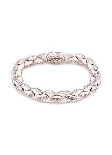 John Hardy Engraved silver chain bracelet
