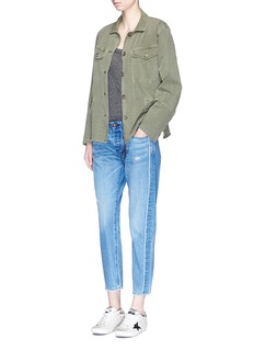 Tortoise 'Savanna' distressed cropped jeans
