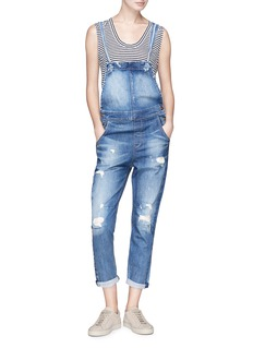 Tortoise 'Teracy' distressed washed overalls