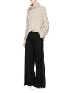 Ms MIN Wrap effect wide leg suiting pants
